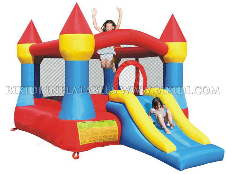 Home Used Inflatable Mini Nylon Bouncy Castles with Slide for Kids H1026