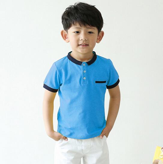 e3b75ff32 China Customize Brand Logo 4-12y Child Boy Polo Shirt - China ...