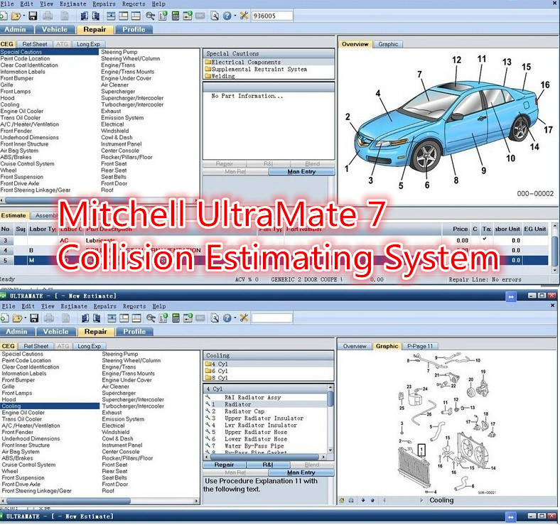 China Mitchell Ultramate7 Collision Estimating System Cd Auto Repair Software China Mitchell Ultramate 7 Mitchell
