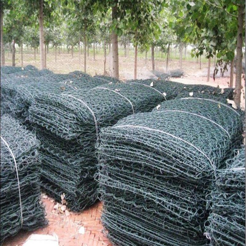 China Green PVC Coated After Galvanized Hexagonal Gabion Basket ...