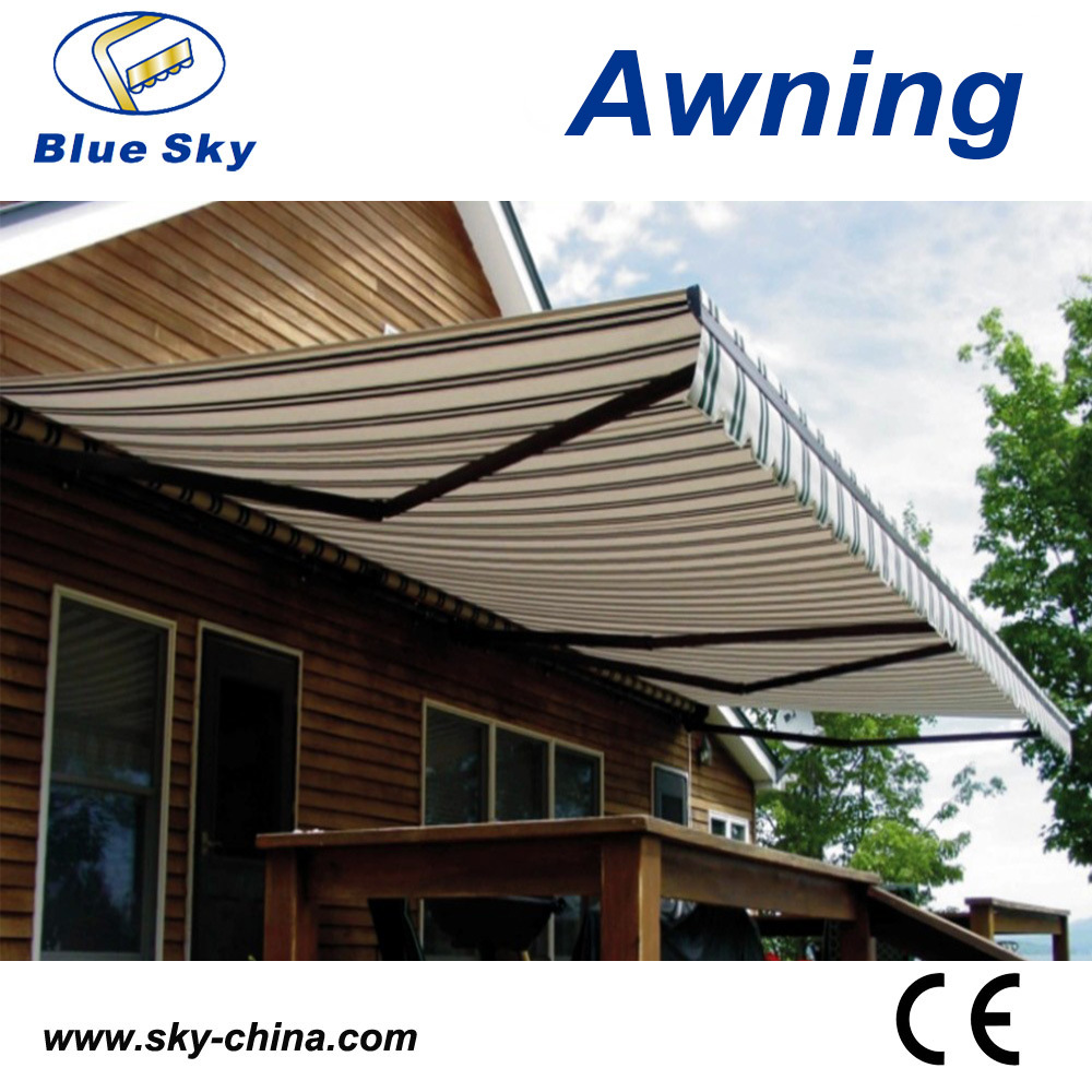 China Prefab Metal Frame Retractable Cassette Awning ...
