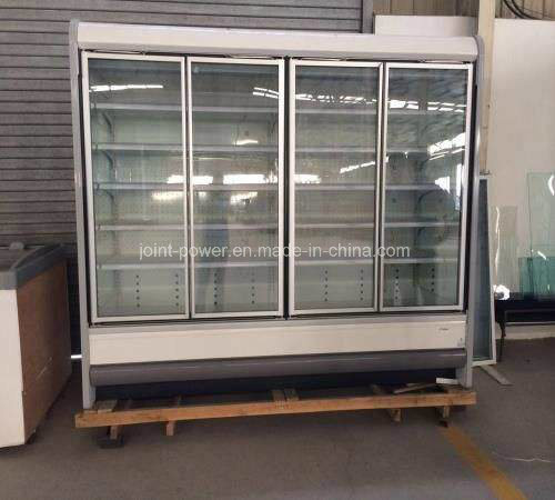 China Glass Door Multideck Display Cabinet For Supermarket China