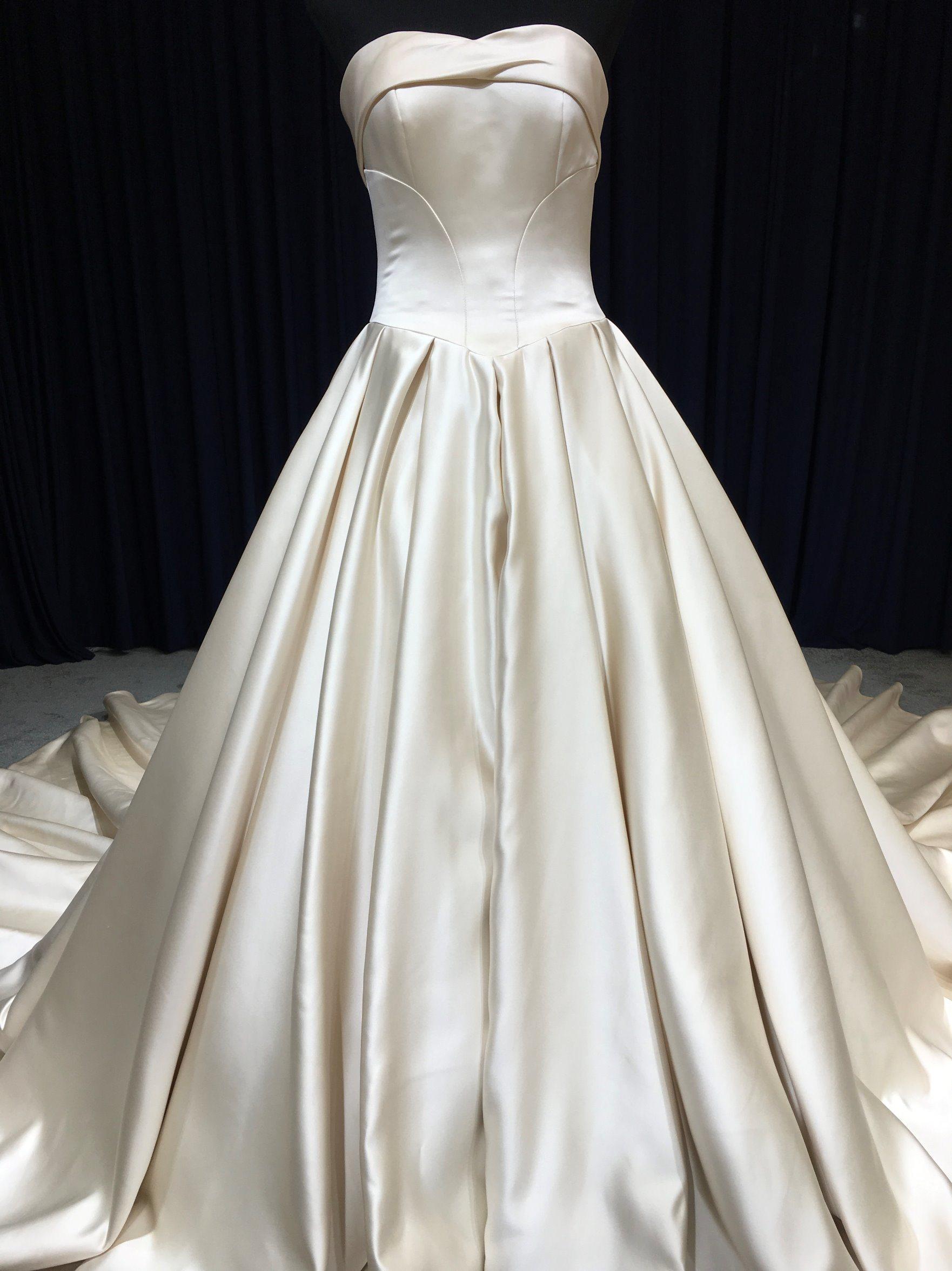 [hot item] aoliweiya newly wedding dress heavy satin