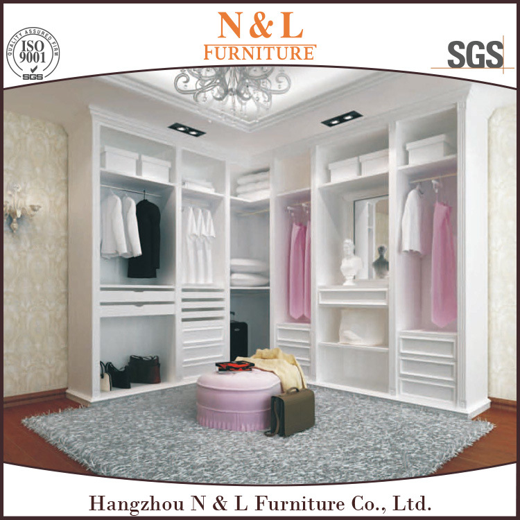 China Modern White Wooden Plywood Bedroom Cabinet Closet