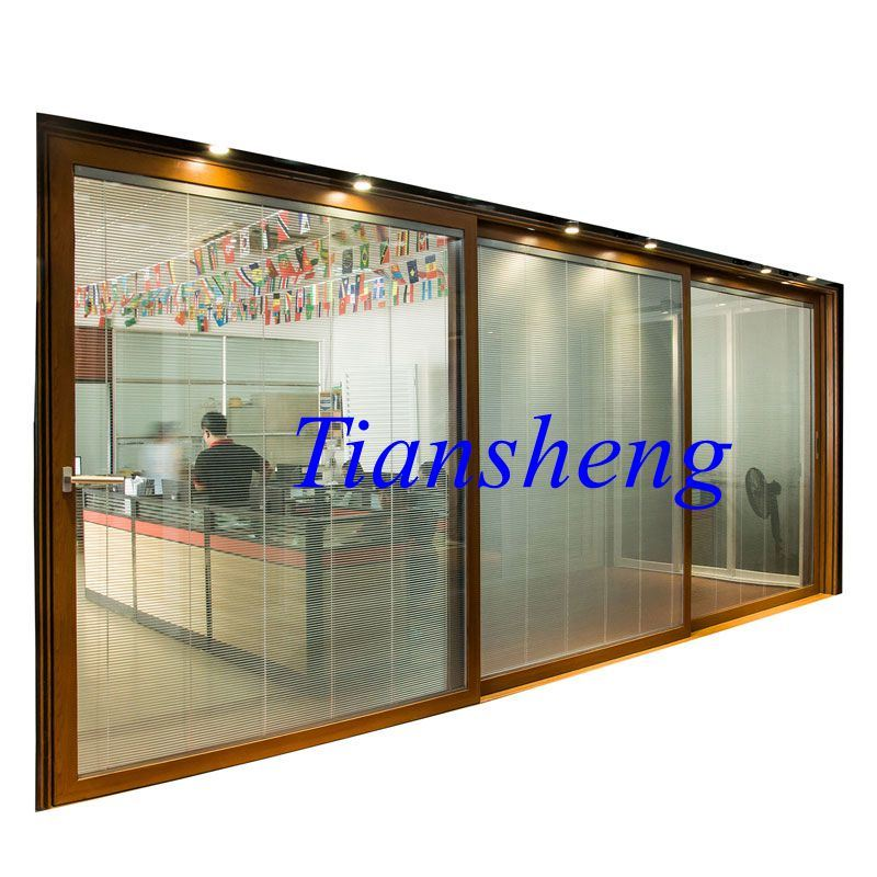 Three Tracks Aluminum Alloy Sliding Door with 2.0mm Thickness pictures & photos