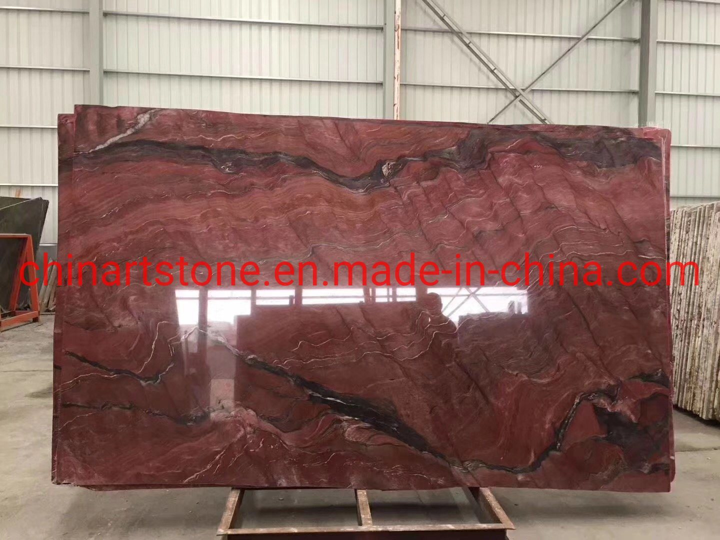 [Hot Item] Luxury Stone Ruby Red Gaya Red Granite Marble Slab for Wall and  Floor