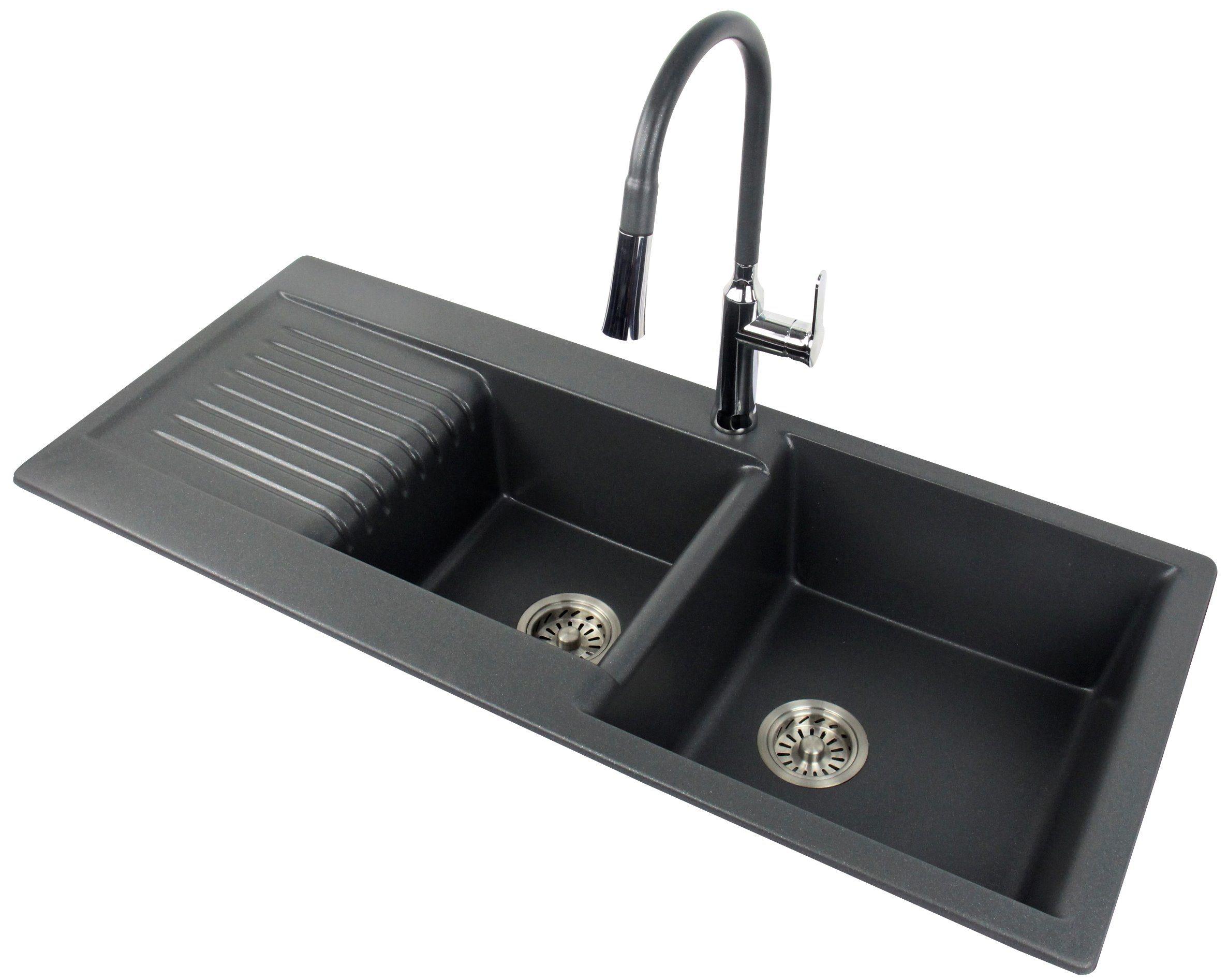 China Jm105 Custom Size Kitchen Sink Double Bowl With Drainboard China Quartz Stone Kitchen Sink Kitchen Sink