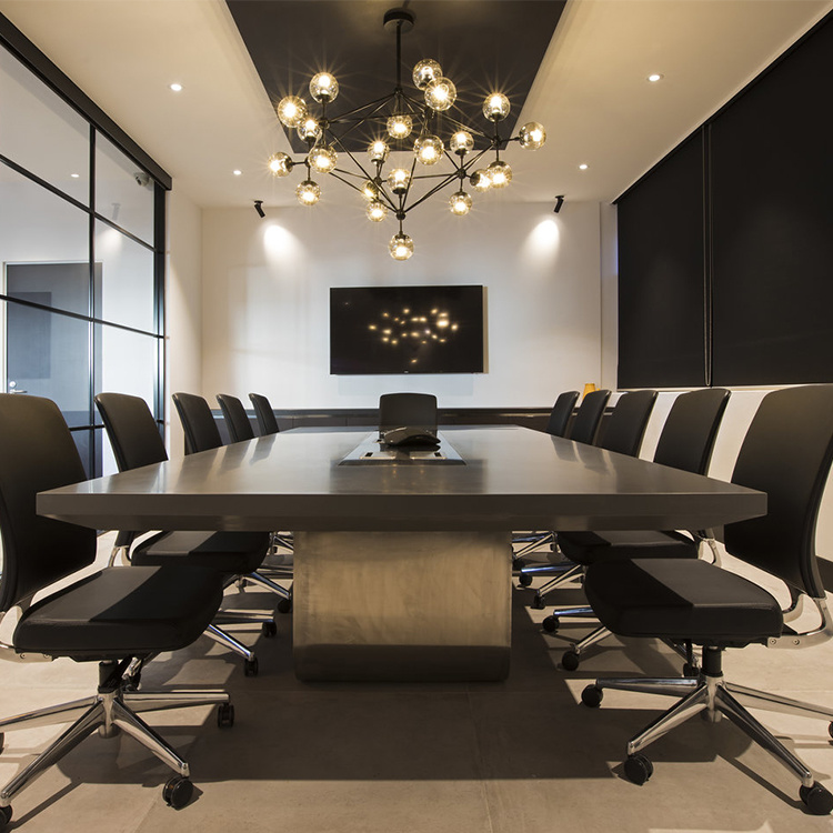 China Fancy Meeting Room Curved Arc Big Acrylic Solid Surface - Curved conference table