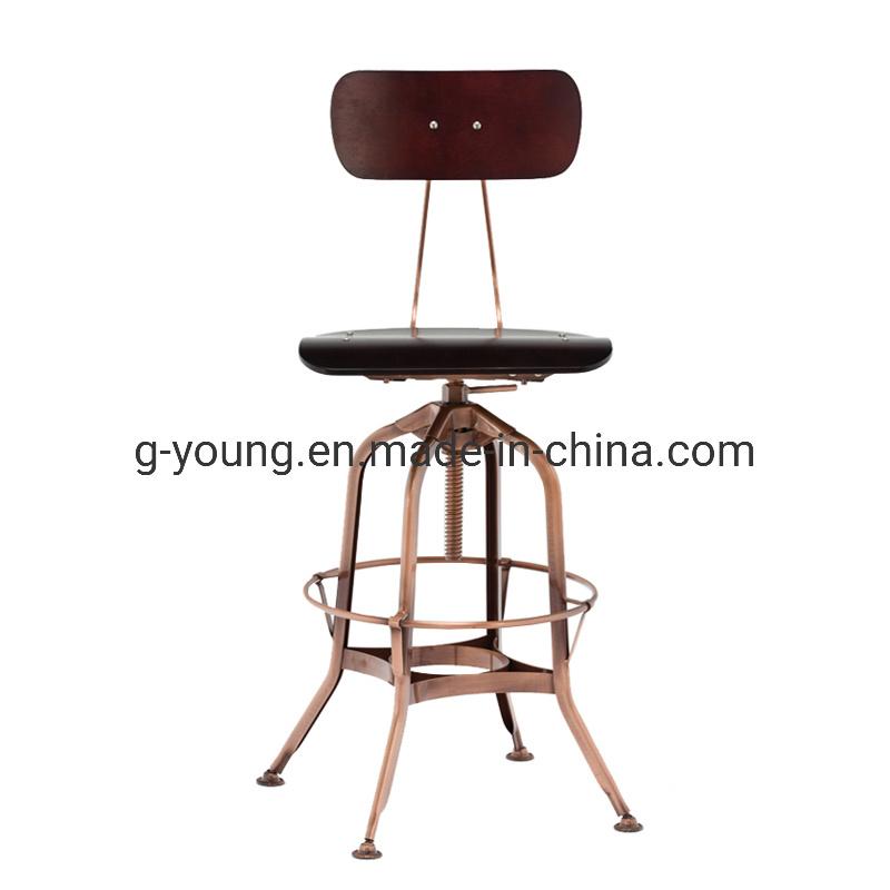 China Nordic Style Antique Pu Cushion Bar Chairs Steel Bar Stools China Furniture Bar Chair