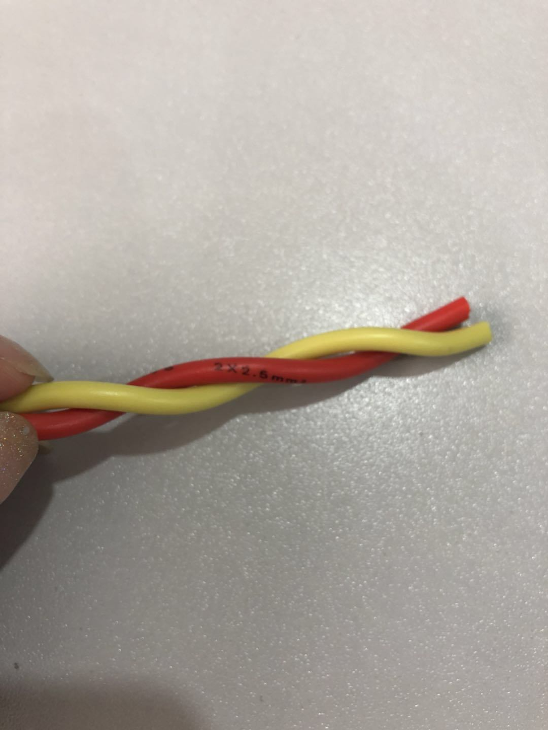 China Twisted Wire 2X1.5mm2/ 2X2.5mm2/ 2X0.75mm2 Fire Resistant ...