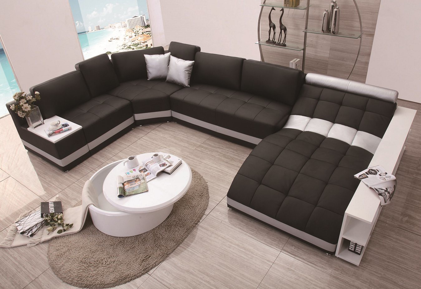 China Modern Design U Shape Sofa Set Lz 219 Photos Pictures