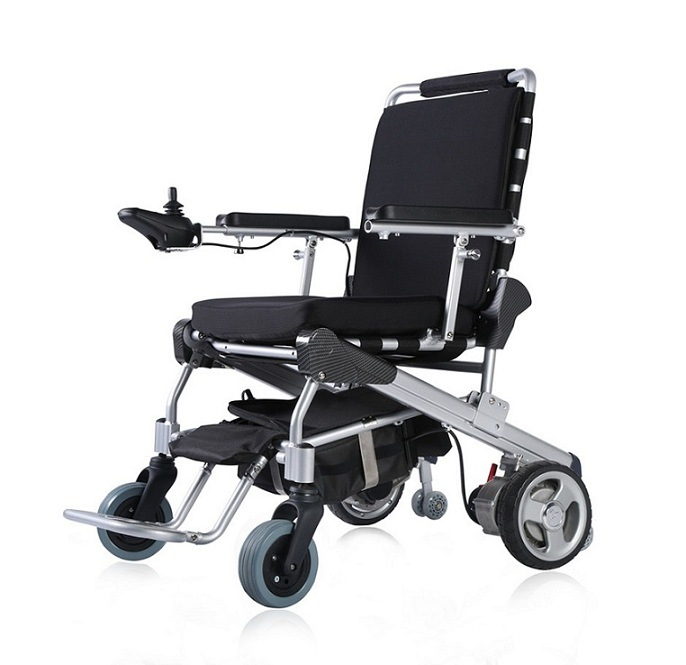 E-Throne 8′′, 10′′, 12′′ Lightweight Brushless Folding Power Wheelchair with LiFePO4 Battery