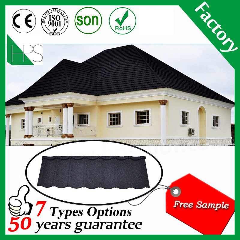 China Maroon Bond Stone Coated Metal Roofing Sheet In