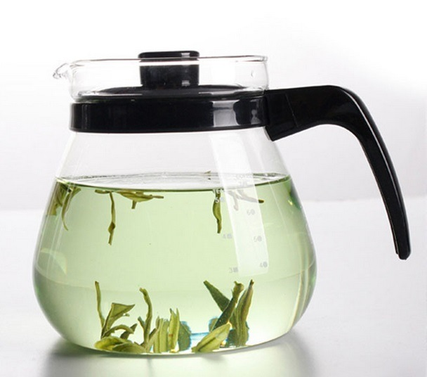 Heat Resistant Glass Tea Pot Cold Water Kettle (1000ml)