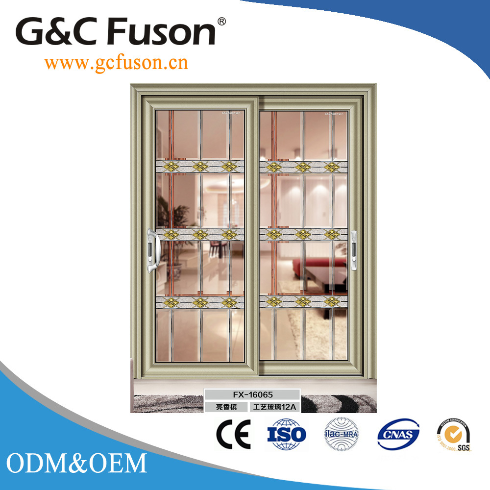 China Factory Price Aluminum Commercial Sliding Door Into The Wall