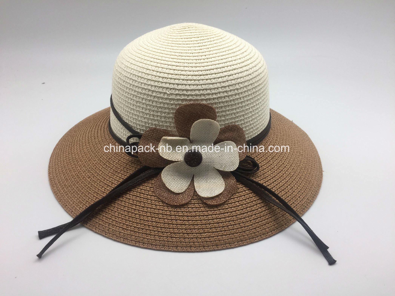 48acc96edd5 Female Summer Beach Rose Wide Brim Straw Hat Lace Fabric Bucket Hats