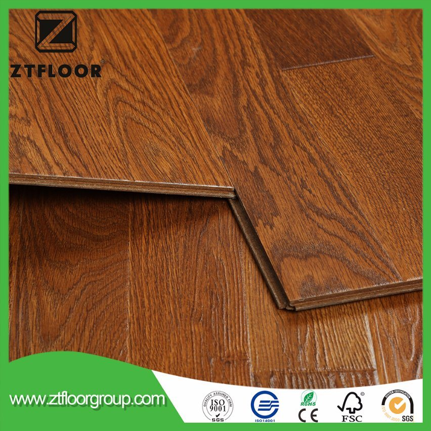China Embossment German Technology Waterproof Laminate Flooring Wood With Ac4 Laminated Wooden