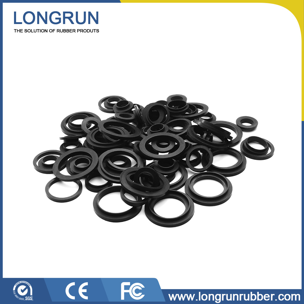 China Customized Industrial Molded Mechanical Silicone O Ring Flat ...