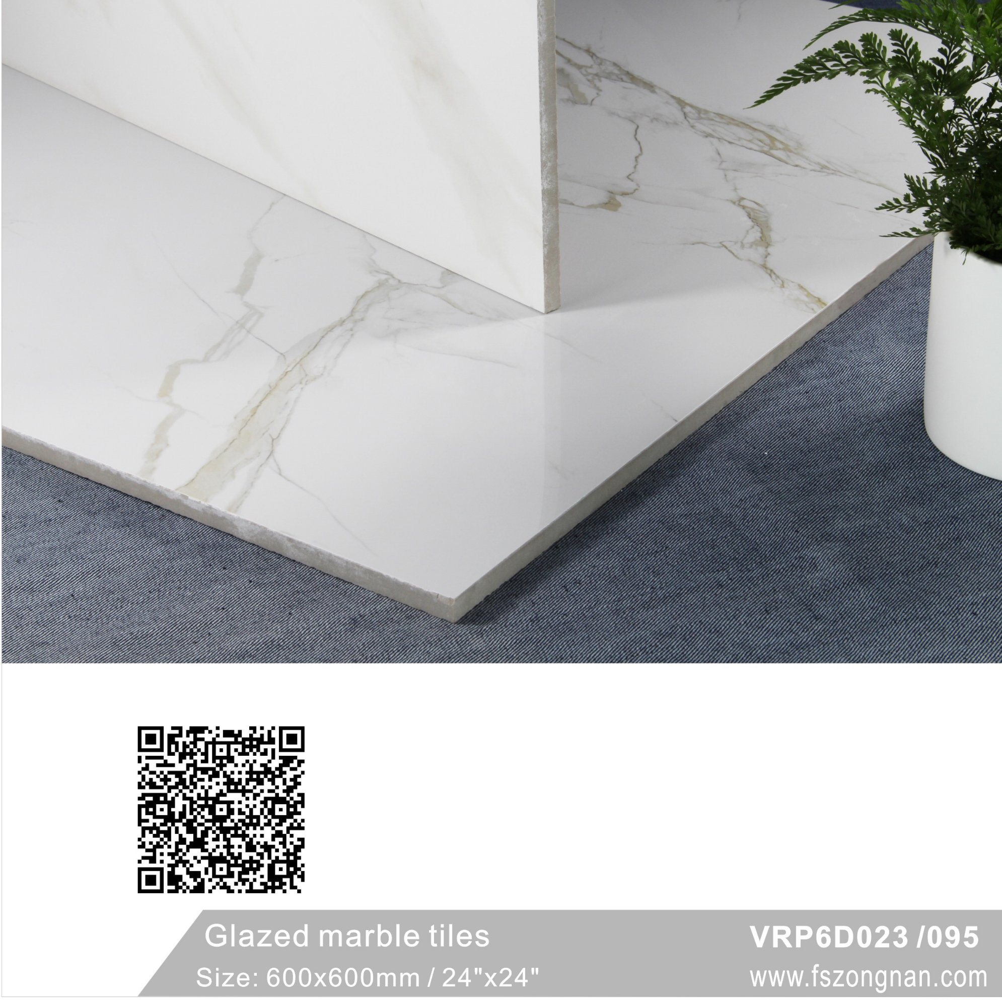 China Carrara Building Material White Glazed Marble Wall Floor Tile ...