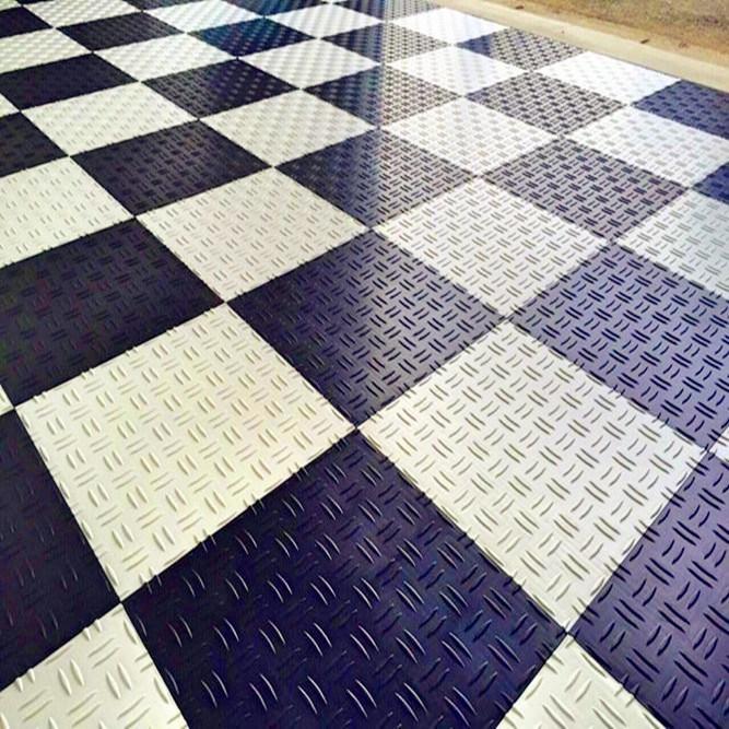 China Multi Function Rubber Garage Floor Paver Rubber Tile Pvc