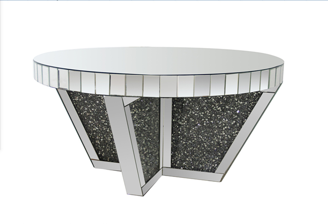- China Modern Simple Compact Round Mirror Top Mirrored Coffee Table