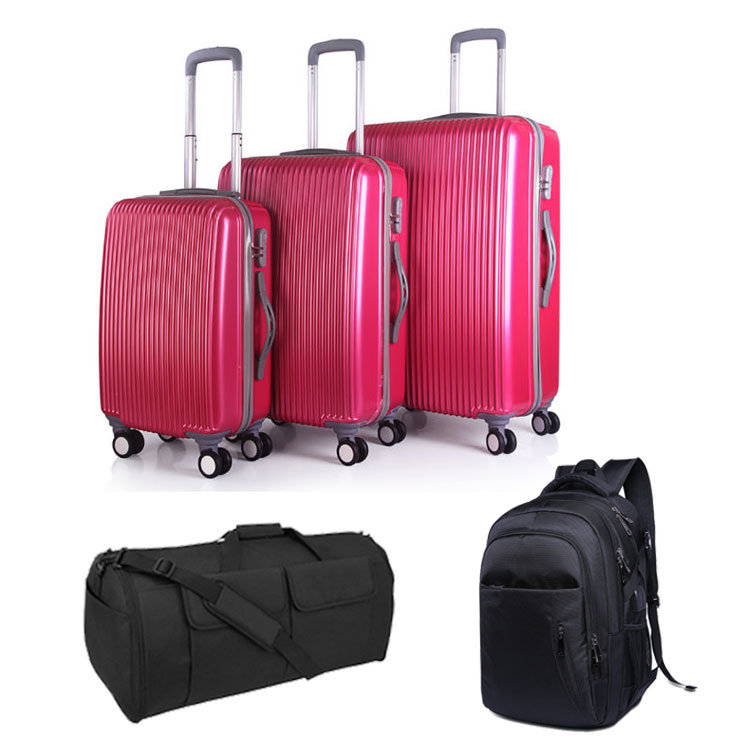 China Enfung 5pcs Trolley Luggage Set With Bag For Travel