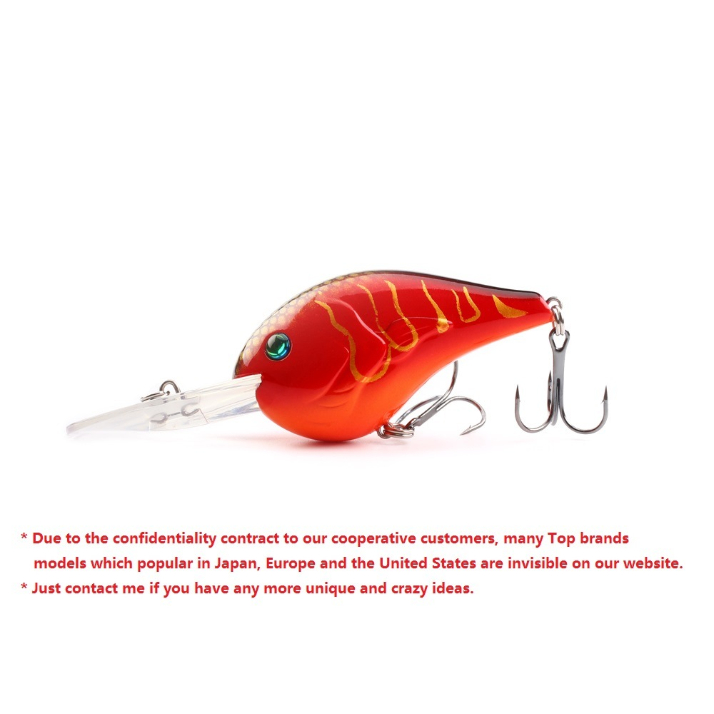 [Hot Item] Hot Sale ABS Red Hard Body Crankbait Lures