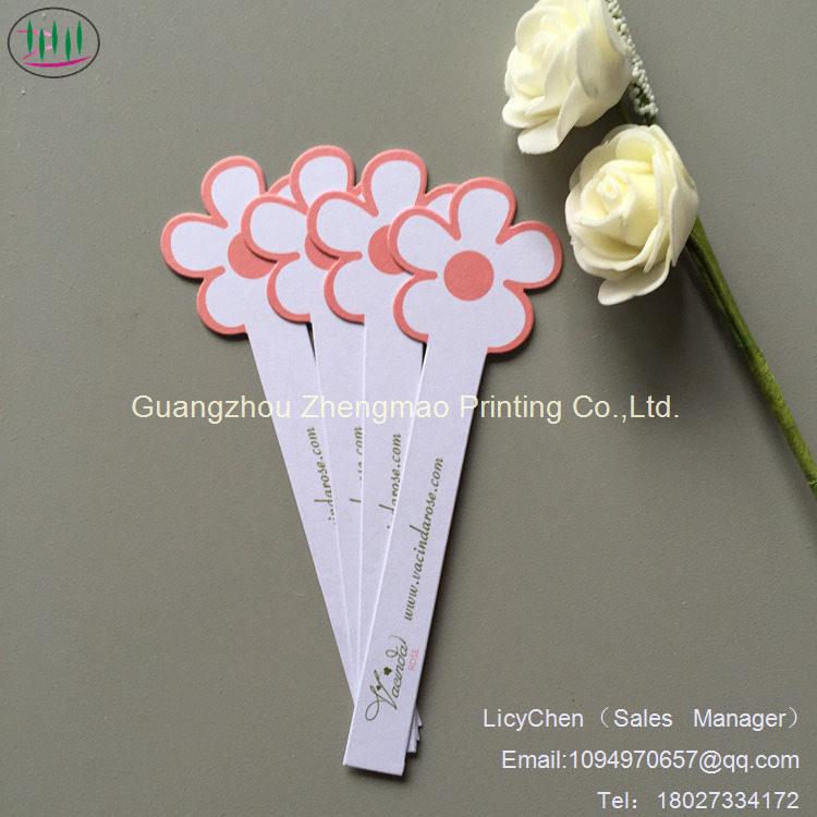 China Natural Flower Shape Fragrance Testing Paper Perfume Test