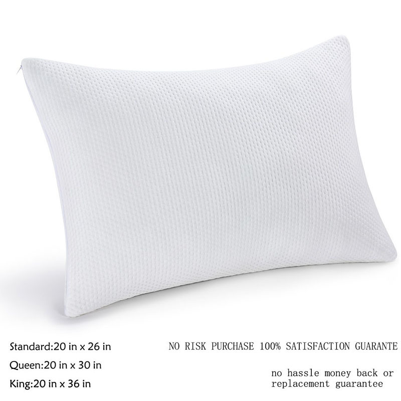 China Shredded Memory Foam Pillow With Zipper Bamboo Cover China