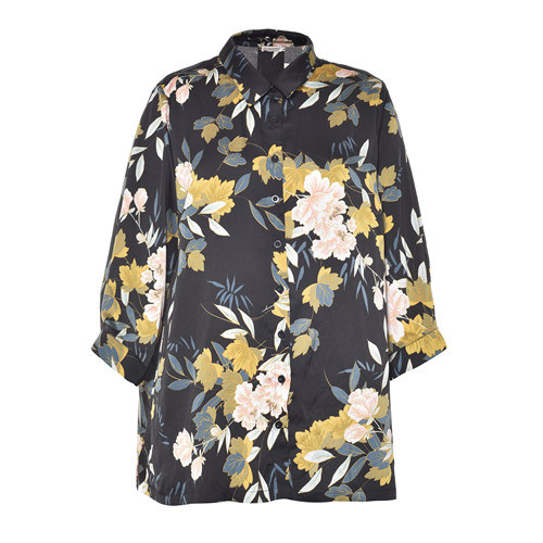 China Flower Printed Ladies Blouse 2020 New Designs For Women