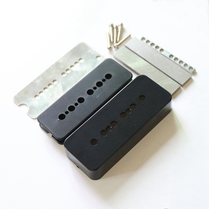 P90 pickup parts 52mm bobbins; nickel silver baseplate etc 50mm