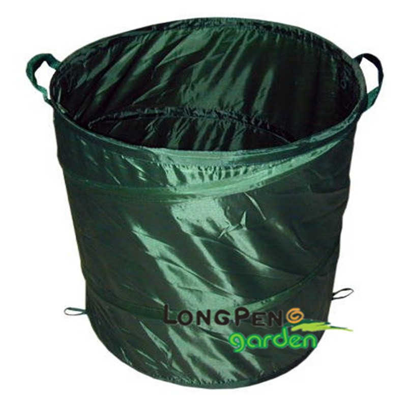 China Collapsible Polyester Trash Can Collapsible Garbage Can Contenedor Plegable China Garden Bag And Plastic Bag Price