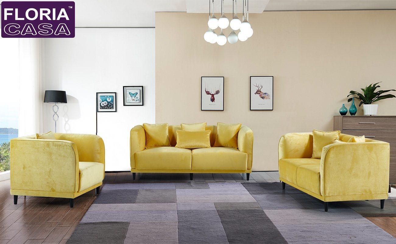 China Scandinavian Design European Style Living Room Velvet Fabric Sofa