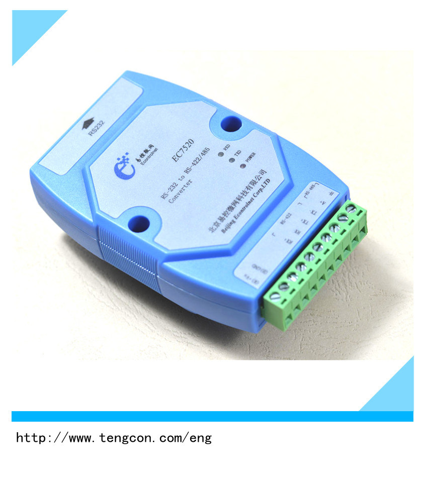 China Rs232 Rs485 422 Optoelectric Isolator Tengcon Ec7520 To Converter