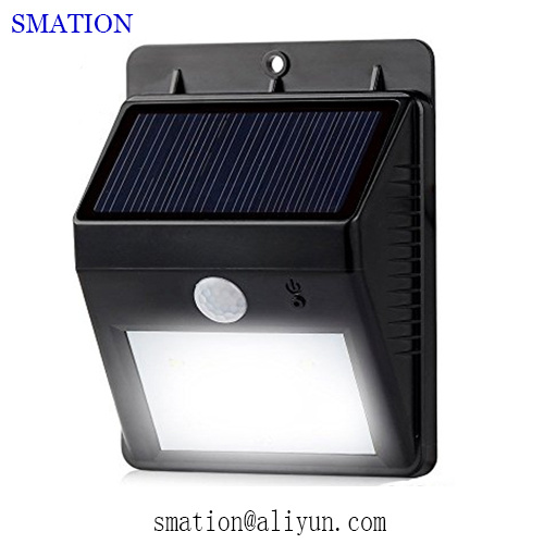 Powered Rechargeable Battery Outdoor Outside Wall Motion LED Solar Lights