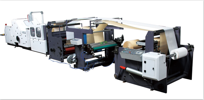 CE Two Layer Paper Feeding Square Bottom Bag Machine with Printing