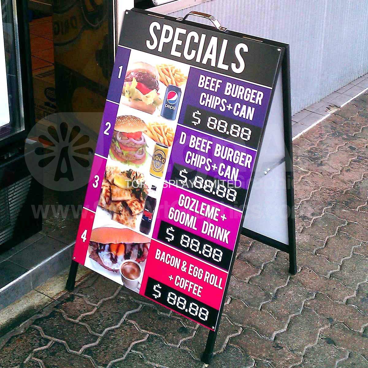 China 24 X 36 a Steel Frames & Sandwich Boards Poster Signs ...