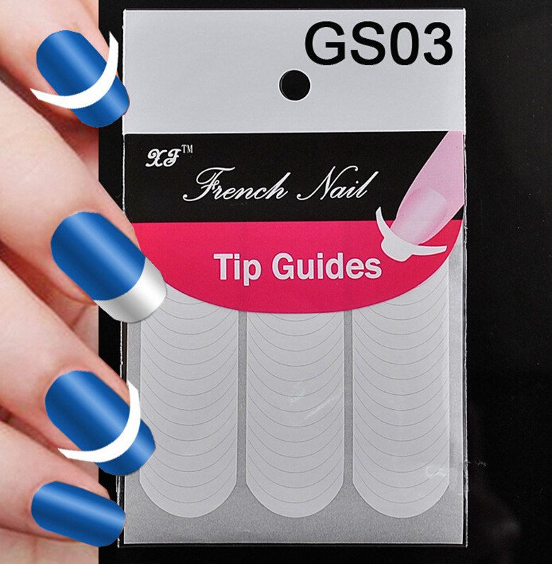 China New Chic DIY 18 Style French Manicure Nail Art Tips Tape ...
