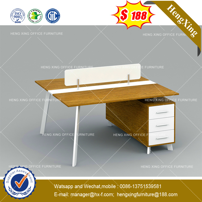 White Dark Grey Office Cabinet Attached Executive Table (HX-8NE1065) pictures & photos
