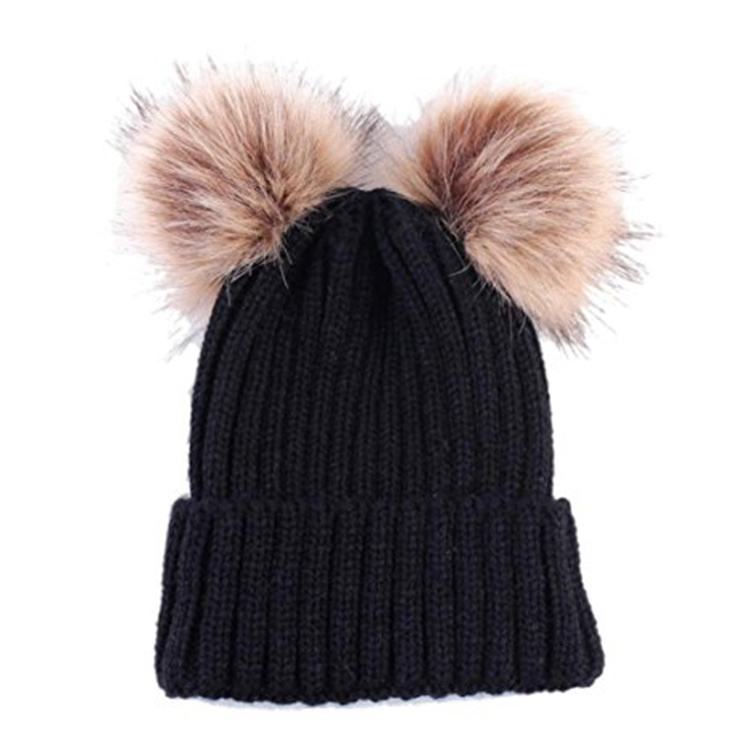 316167d3d80 China Custom Cute Womens Knit Pure Cashmere POM Beanie Hat with POM ...