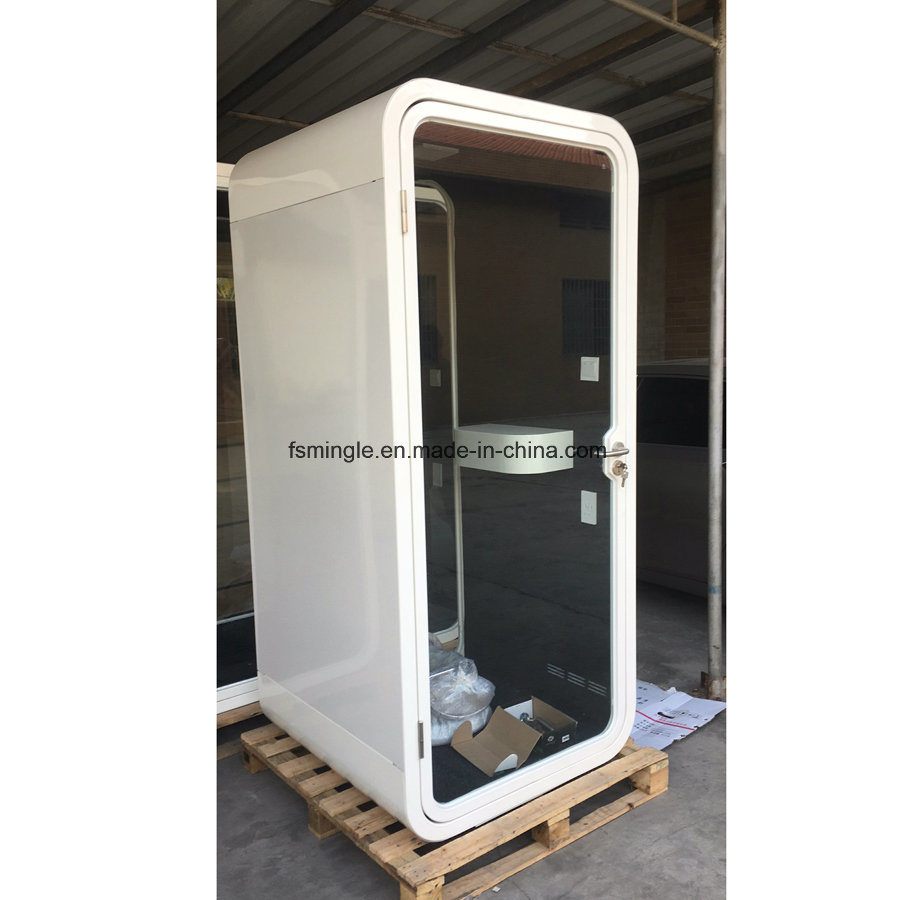 Single Seater Galvanized Steel Soundproof Type Private Meeting Pod/Phone  Booth For Office