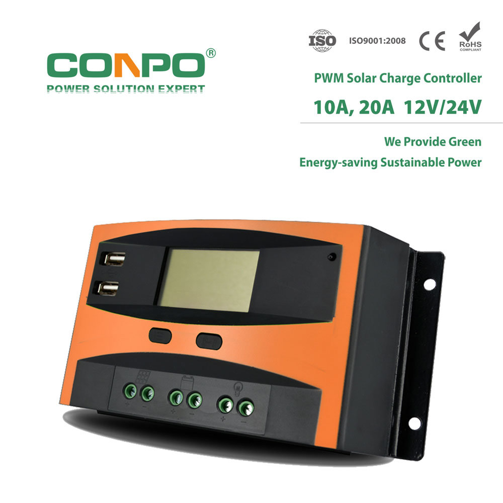 China Tk20du 10a 20a 12v 24vauto Usb Lcd Pwm Solar Charger Charge Controller 24v