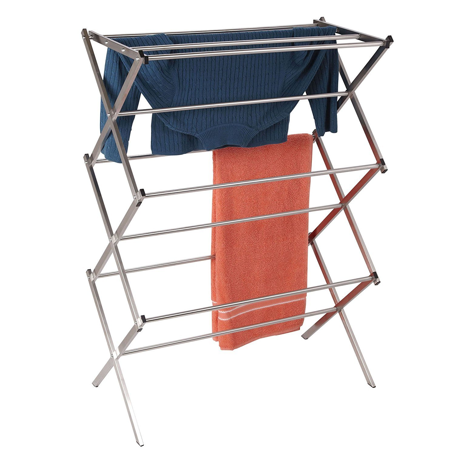China Folding X-Frame Clothes Drying Rack, Stainless Steel - China ...