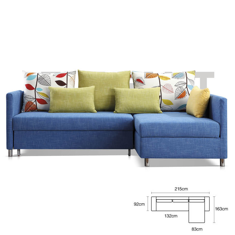 [Hot Item] Modern Design L Shaped Sofa Bed with Storage