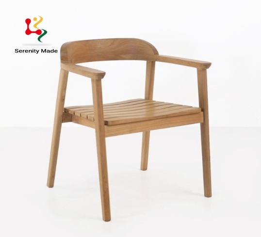 China Cafe Shop Outdoor Teak Wooden Furniture Modern Restaurant Cafe Chair China Outdoor Teak Dining Chair Dining Chairs Modern