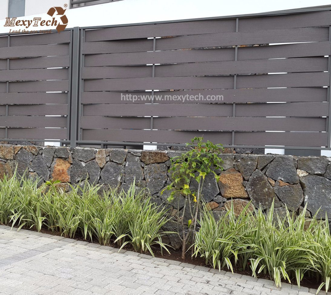 Outdoor Aluminum Easy Installation Garden Weave WPC Fence Panels For Sale
