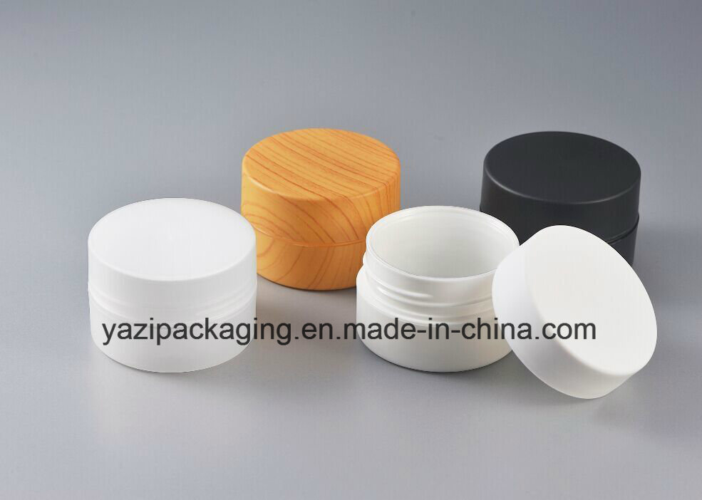 100g 120g PP Plastic Wooden Cosmetic Jar