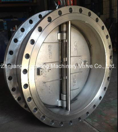 Flange End Dual Plate Non Slam Butterfly Swing Check Valve pictures & photos