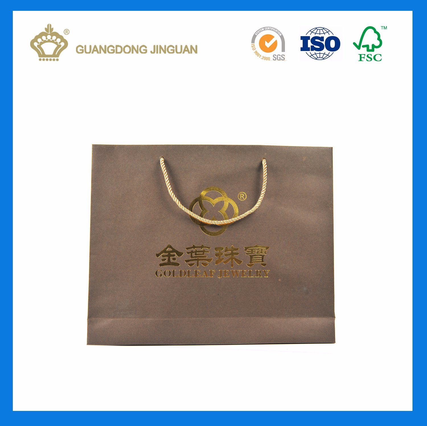 High Quality Paper Gift Bag for Jewelry (with logo hot stamping) pictures & photos