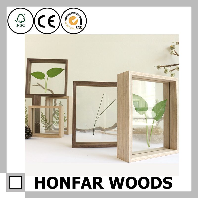 Hot Item Specimen Box Wooden Shadow Box Frame Wooden Picture Frame